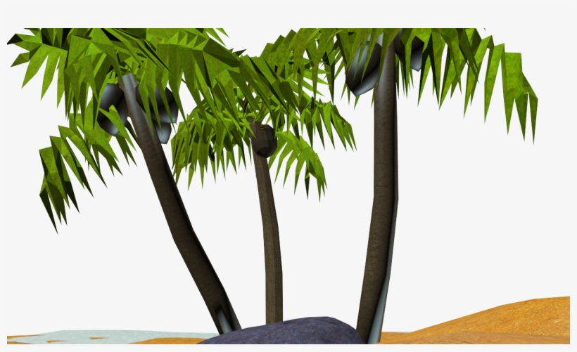 The Last Tree I Just Used A Simple Unwrap To Apply - Palm Tree, transparent png #4259919