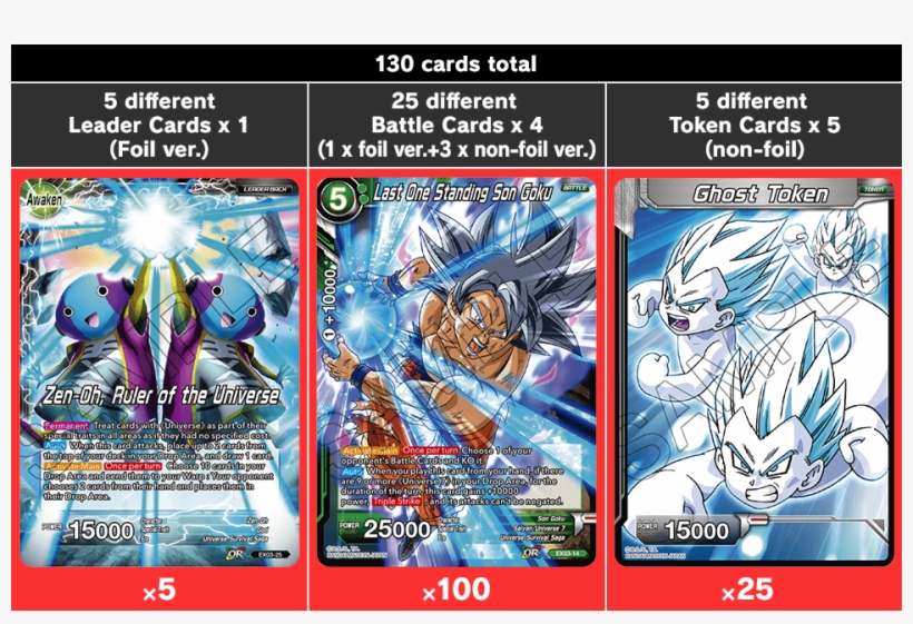 130 Cards Total - Dragon Ball Super The Card Game Ultimate Box, transparent png #4260543
