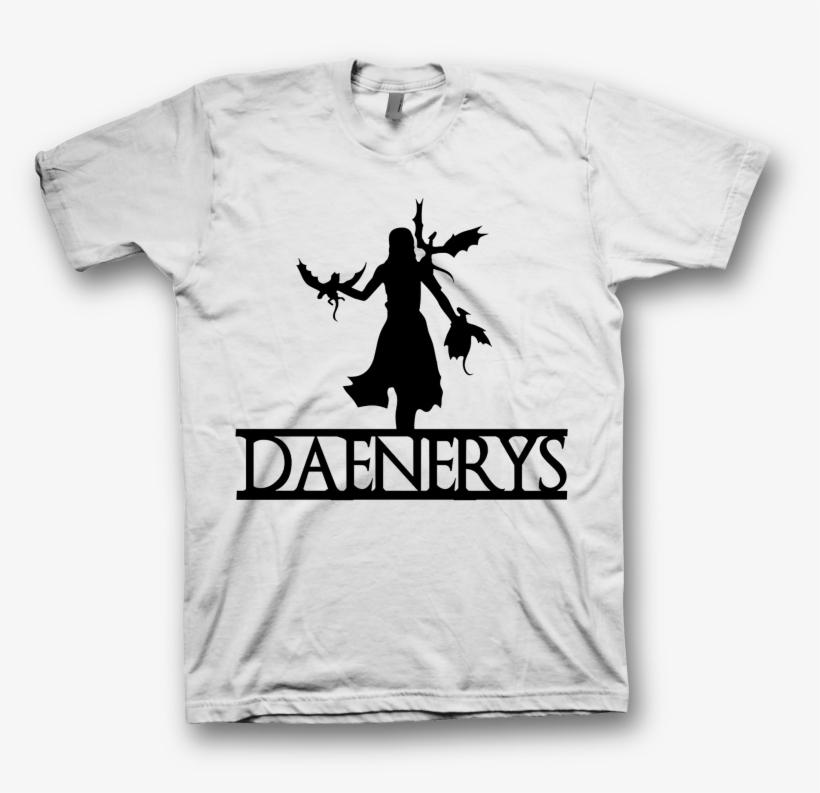 Camiseta Blanca Daenerys Silueta - Silhouette Games Of Thrones, transparent png #4261389
