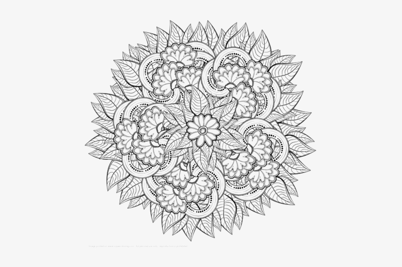 Zentangle Png Image Detailed Zentangle Coloring Pages Free Transparent Png Download Pngkey
