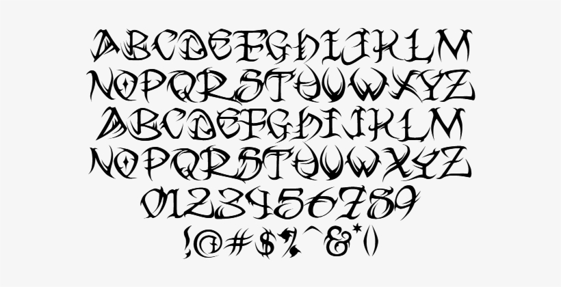 9f491a132 Graphic Free Cursive Tattoo Fonts For - Tribal Font Alphabet - Free ...