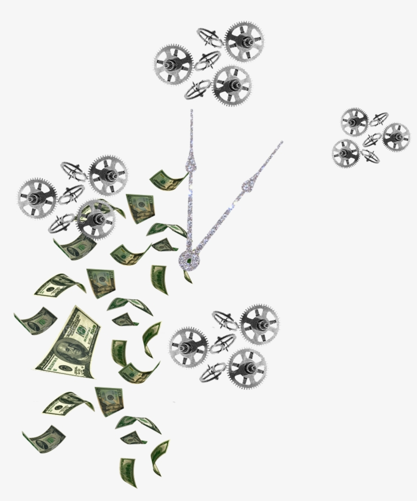 Falling Money, transparent png #4268175