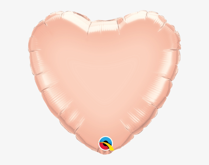 Rose Gold Heart Balloon W/ Paper Tassels - Rose Gold Heart Shaped Balloons, transparent png #4270988