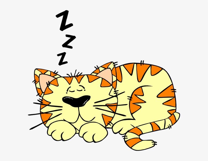 Cat Mom Clipart - Sleep Cat Clip Art, transparent png #4275955