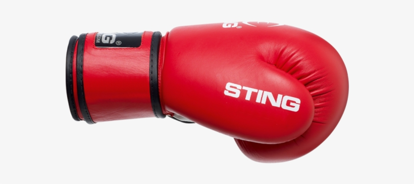 Sting Aiba Approved Competition Leather Boxing Gloves - Sting Boxing Gloves Red, transparent png #4278493