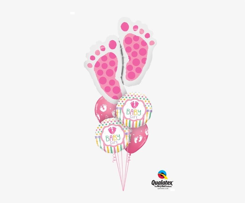 Sweet Baby Feet Balloon Bouquet - Baby Feet Balloon Bouquets, transparent png #4278692