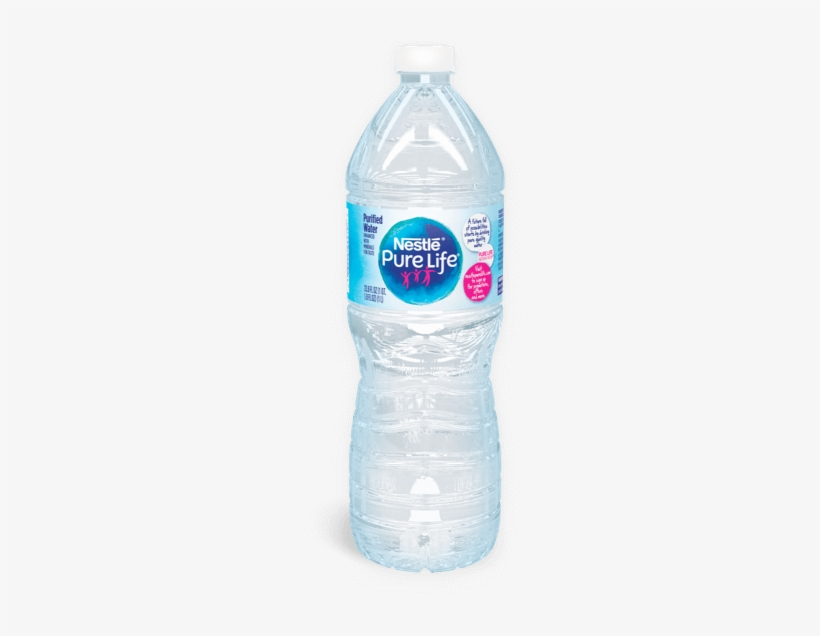 1 Liter Bottle Of Nestle Pure Life Purified Water - Nestle Pure Life Water, Purified - 7.7 Fl Oz, transparent png #4279189