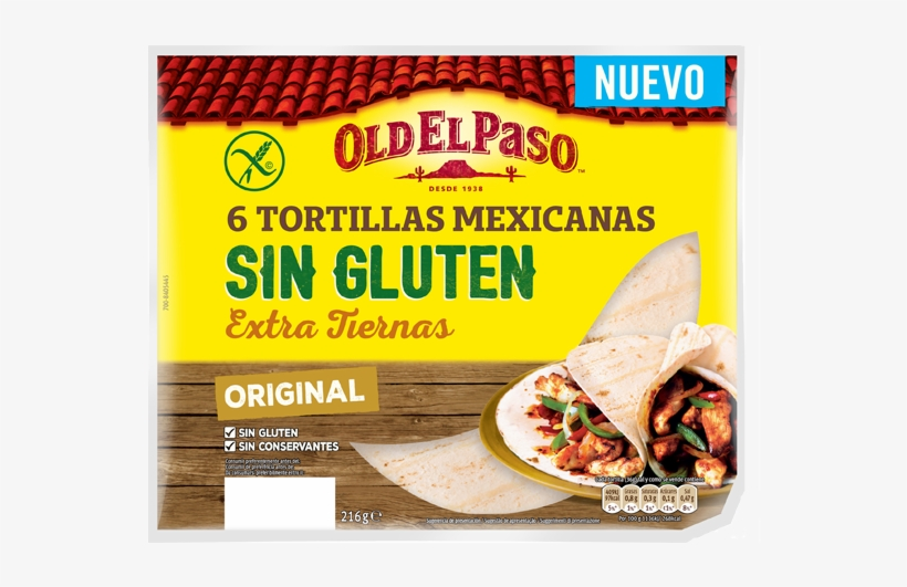 Las Nuevas Tortillas Sin Gluten Se Han Incorporado - Old El Paso Nacho Kit Original Cheesy Baked 520g, transparent png #4279883