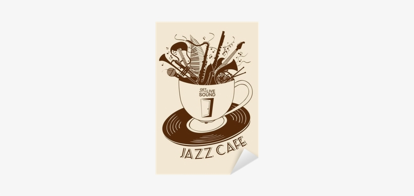 Jazz Cafe Concept With Musical Instruments In A Cup - Jazz, transparent png #4279997