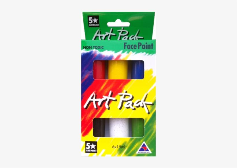 Art Pack - Face Paint Set 6 Colors 15ml, transparent png #4282830