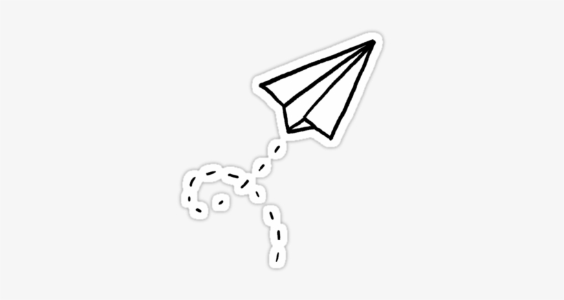 Paper Plane Stickers By Leah Flores Paper Airplane Sticker