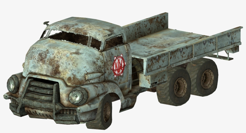 Fnv Flatbed Truck - Fallout 4 Pickup Truck, transparent png #4284398