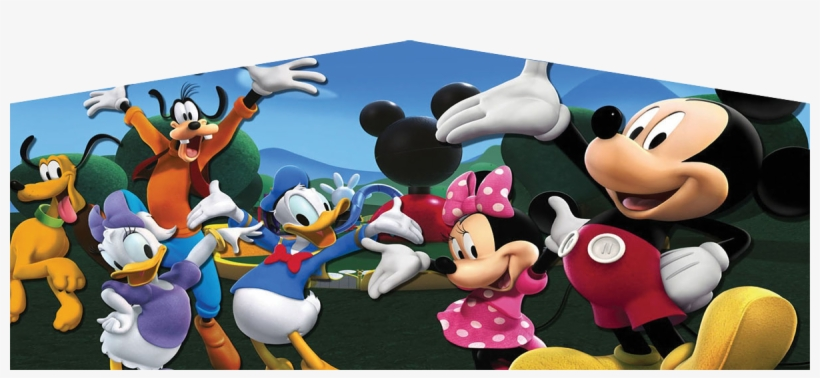 Mickey Mouse Art Panel - Mickey Mouse Clubhouse Party Cake Image Frosting Sheet, transparent png #4285388