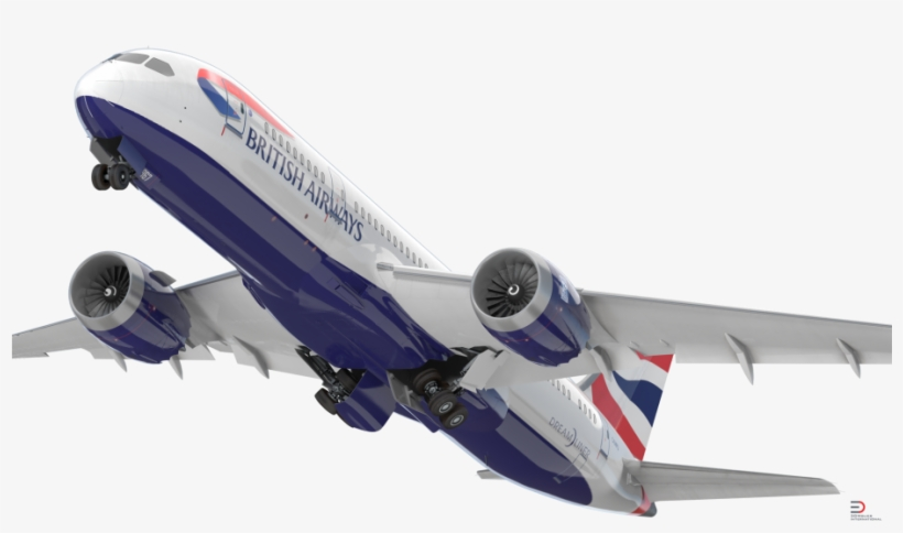 Boeing 787-8 Dreamliner British Airways Rigged 3d Model