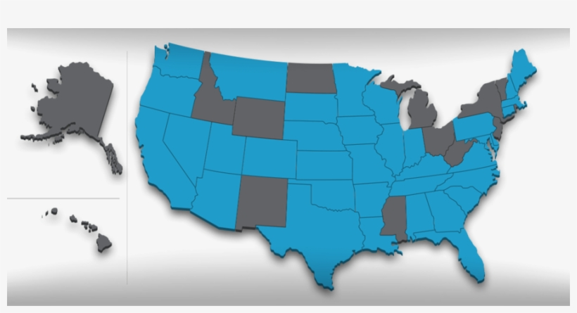Us Map Clipart United States Of America Map - If Us Land Was Divided Like Us Wealth, transparent png #4288581