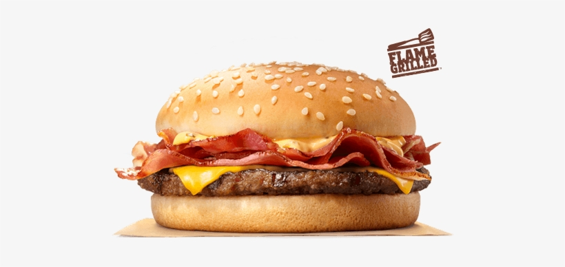 Our Made To Order Bk® Single Stacker Boasts A Flame-grilled - Burger King Bbq Beefacon Single, transparent png #4289942