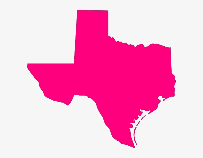Pink Texas Clip Art At Clker - Texas Flag Free Clip Art, transparent png #4290853