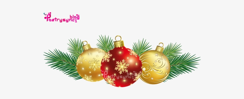 Christmas Balls With Best Top Greeting Quotes By Poetysync1 - Christmas Decors Png, transparent png #4292343