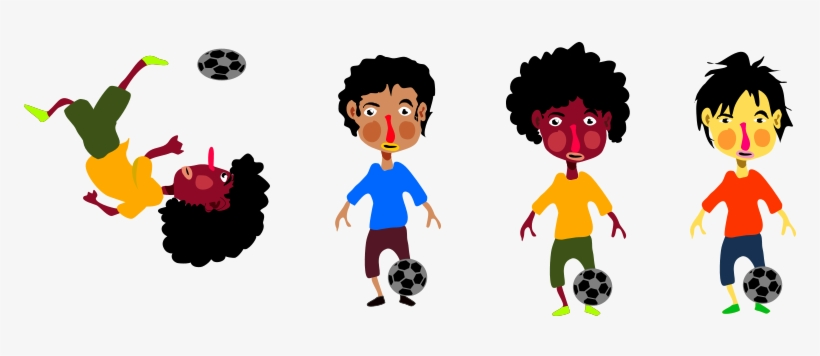 Bola De Fuego Normal 2 By Srcabezon - Kids Playing Soccer Outside Clip Art, transparent png #4294811