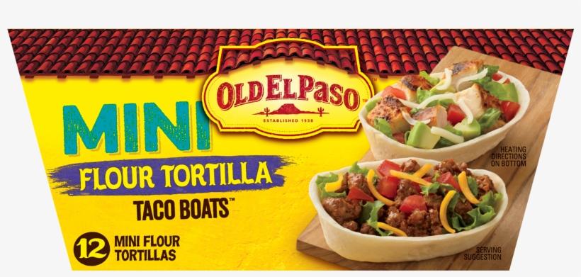 Old El Paso Mini Soft Taco Boats Shells Png Hard Shell - Old El Paso Soft Taco Dinner Kit 12.5 Oz, transparent png #4294879