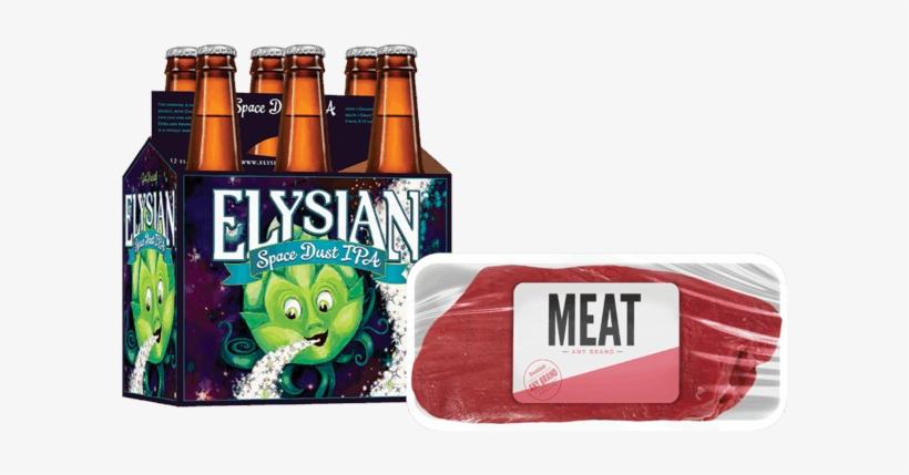 Elysian Space Dust Ipa - 6 Pack, 12 Fl Oz Bottles, transparent png #4296493