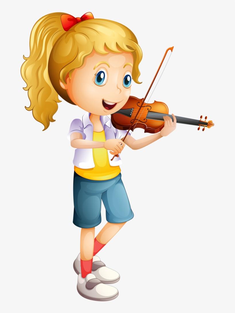 Violin Clipart School Orchestra - Play The Violin Clipart, transparent png #4296680
