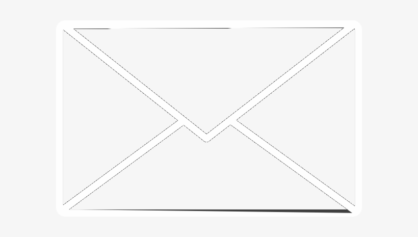 Mail Icon White - Line Art, transparent png #4297053