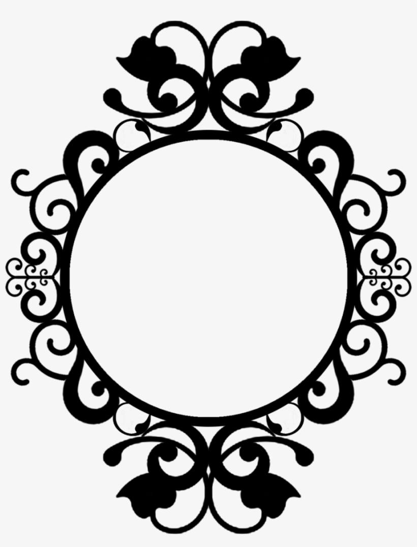 Graphic Black And White Library Vintage Oval Frame - Round Frame Vintage Png, transparent png #430330