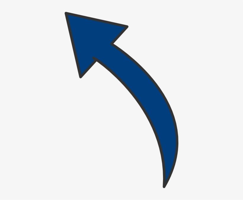 Curved Arrow Left Clip Art - Curved Arrows Clip Art, transparent png #430390