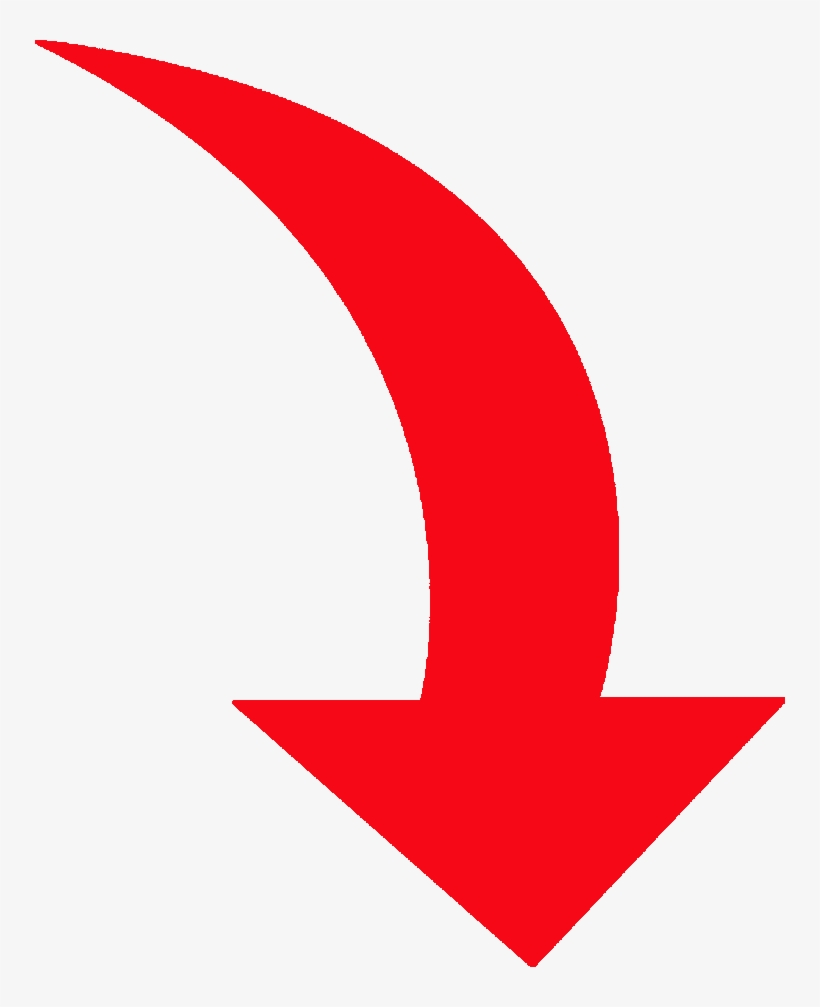 Red Curved Arrow Png Image Freeuse - Curved Red Arrow Png, transparent png #430443