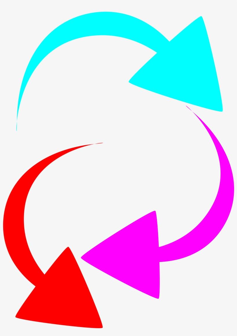 Curved Arrow Clipart Curved Color Arrows - Color Arrow, transparent png #431171
