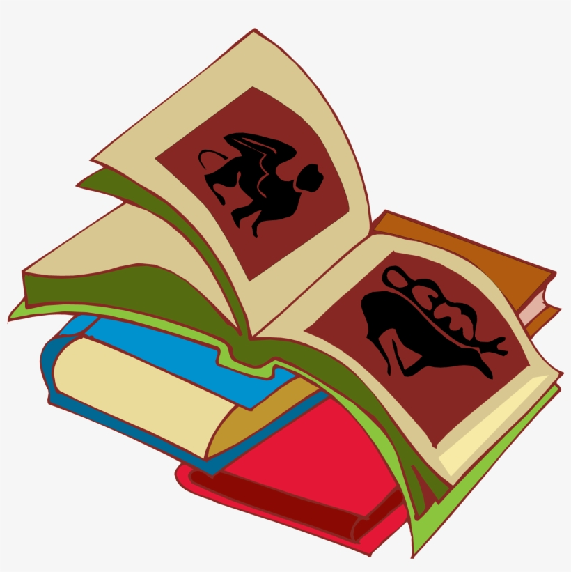 Clip Art With Books 4 Clipart Of Book - Black And White Books Clip Art -  Png Download (#118485) - PinClipart