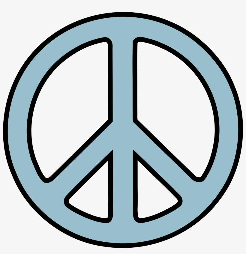 Music Symbols Clip Art Black And White Peace Symbol Png Free