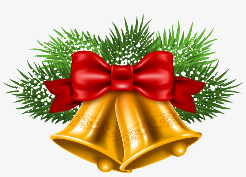 Christmas Bell Hd Png Picture - Gearbest Christmas Bells Print Decorative Sofa Pillowcase, transparent png #432927