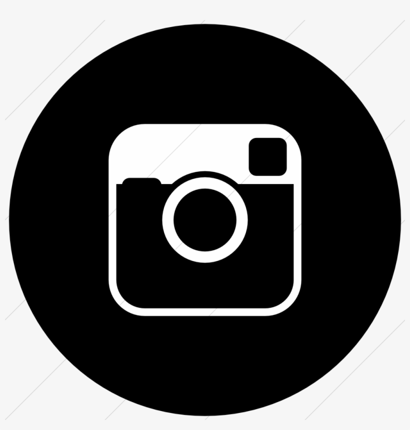 Instagram round. Download icon black circle