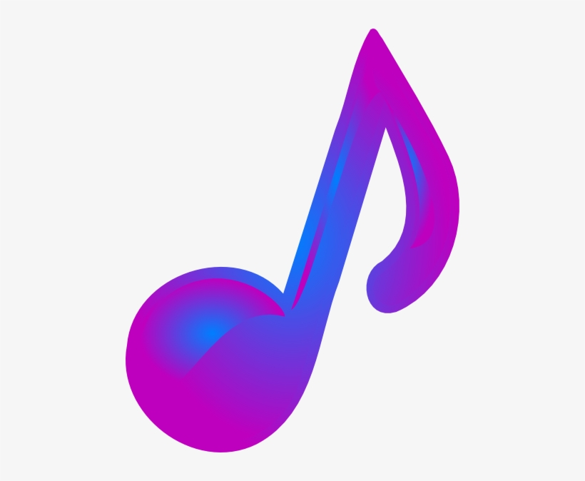 Musical Notes Clipart Music Symbol - Music Notes Purple, transparent png #433199