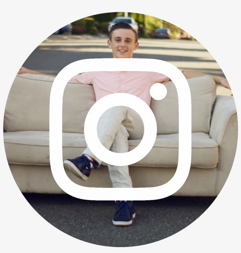 Instagram Icon White On Black Circle - Icon, transparent png #433319
