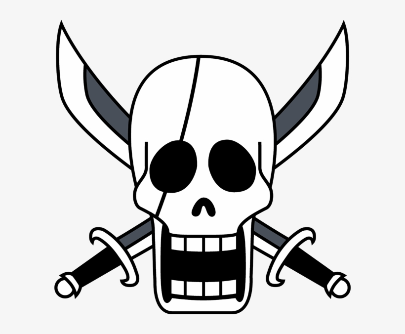 Gold Pirates Skull One Piece Shanks Flag Free Transparent Png
