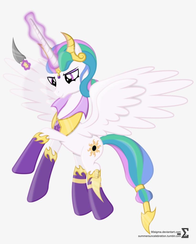 Evil Princess Celestia By 90sigma-d8t3ab1 - My Little Pony Princess Celestia Evil, transparent png #434015