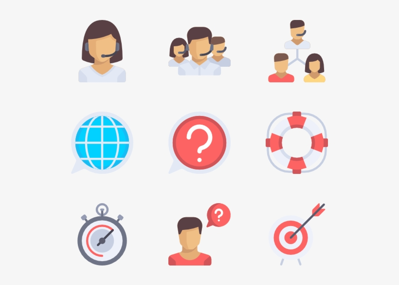 Customer Service Icons - Customer Service Flat Icon, transparent png #434651