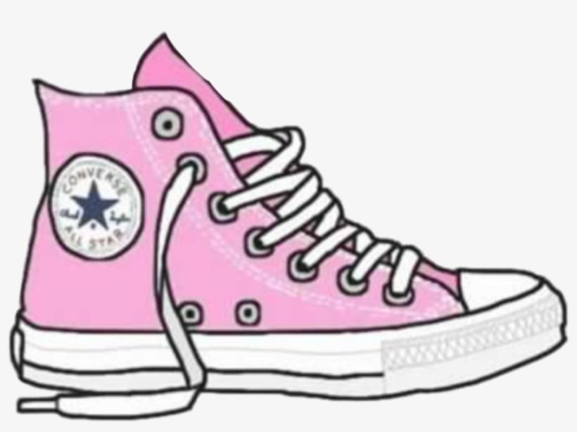 a5ecbe18d8fb Tumblr Cartoon Pink Converse Allstar Freetoedit Royalty - Png Shoes ...