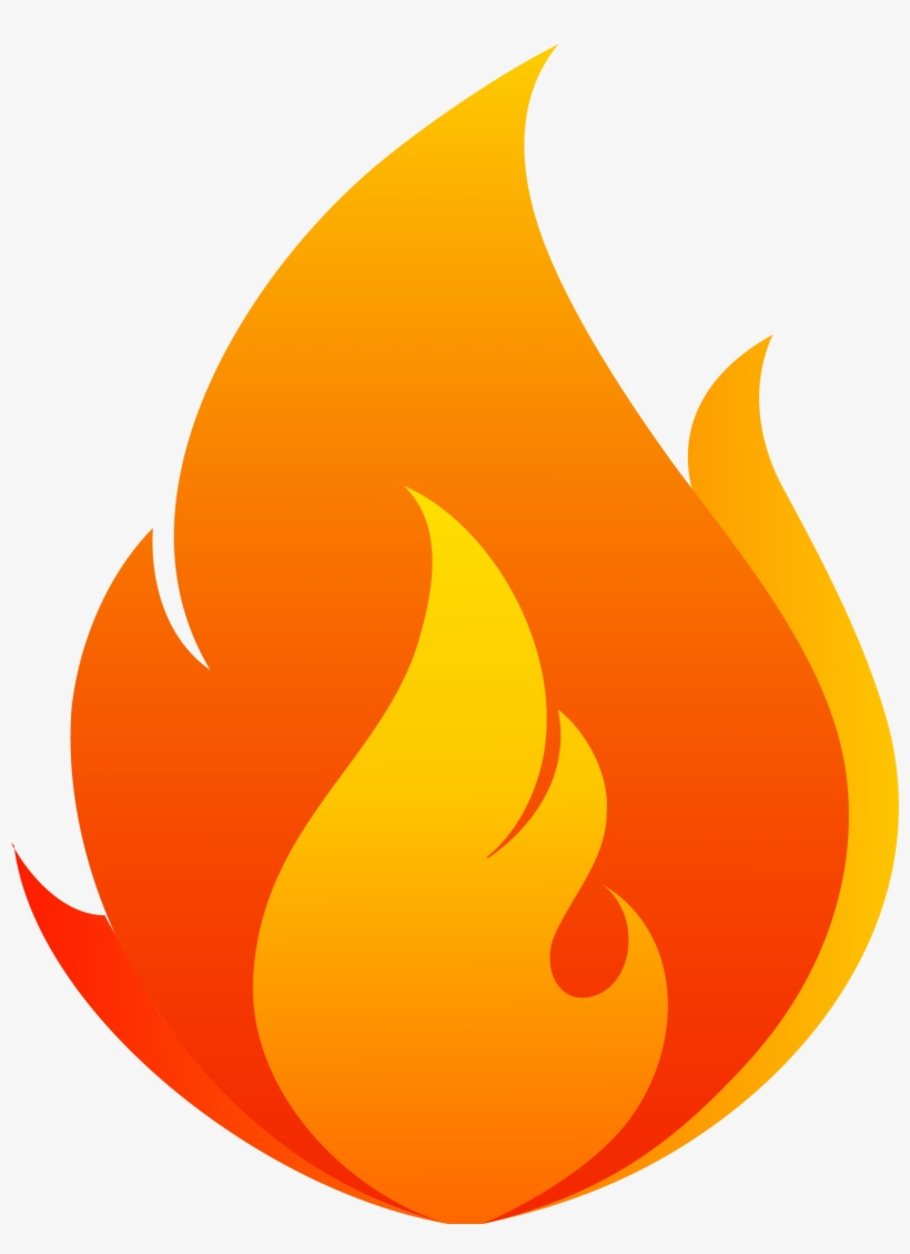 Red Vector Flowing Flames - Fire Flame Vector Png, transparent png #435273