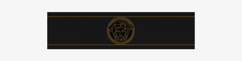 Versace Border Png - Versace Greek Key Wallpaper Border (black/gold) 93522-1b, transparent png #435274
