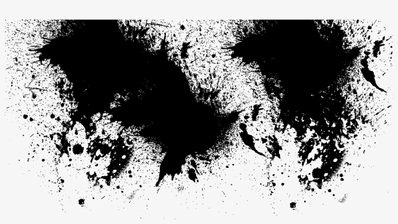 Black Splatter Png - Black Paint Splash Transparent, transparent png #435420