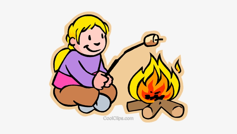 Picture Library Stock Marshmallow At Getdrawings Com Clip Art Girl Camping Free Transparent Png Download Pngkey