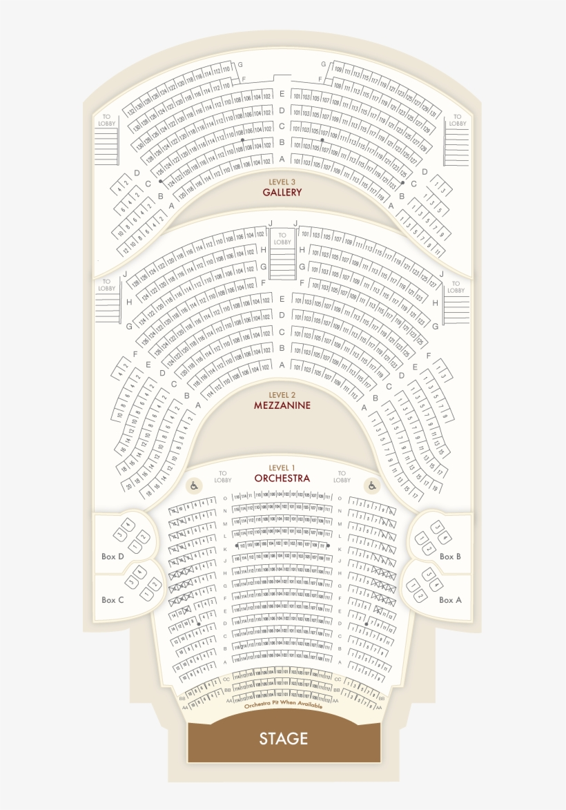 Seating Charts Lexington Opera House Chart Transpa Png 435678