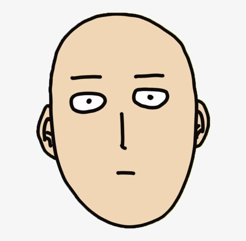 One Punch Man Funny - One Punch Man Face Transparent, transparent png #435703