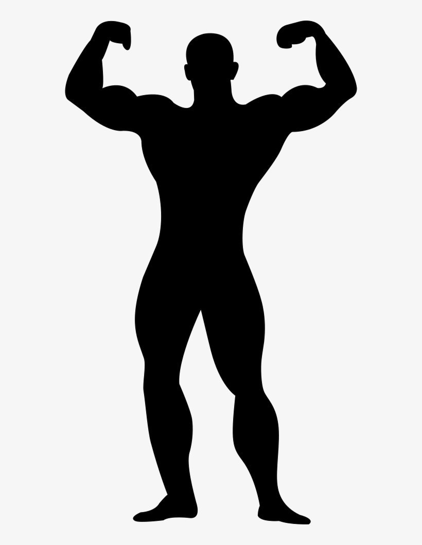 Muscular Man Flexing Silhouette Comments - My Man Vs Your Man, transparent png #436913