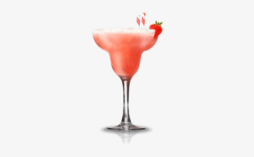 Strawberry-coconut Daiquiri - Strawberry Daiquiri Cocktail Png, transparent png #437344
