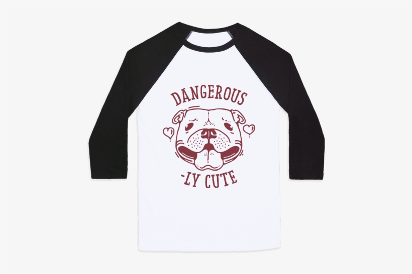 Dangerously Cute Pit Bull Baseball Tee - Don T Touch Me Cactus, transparent png #438727